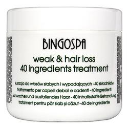 BingoSpa Kuracja do włosów 40 Aktywnych Składników 500g