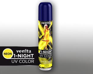 Venita 1-Night 4 Żółty Spray Neon 50 ml
