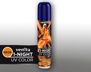 Venita 1-Night 5 Pomarańczowy Spray Neon 50 ml