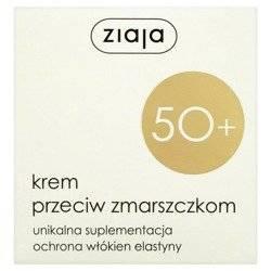 Ziaja 50+ Krem przeciwzmarszczkowy półtłusty na d/n 50ml