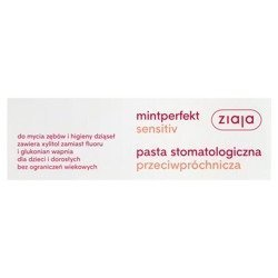 Ziaja Mintperfekt Sensitiv Pasta przeciwpróchnicza 75 ml