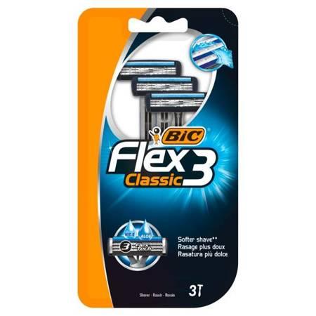Bic Flex 3 Classic Maszynki 3 sztuki